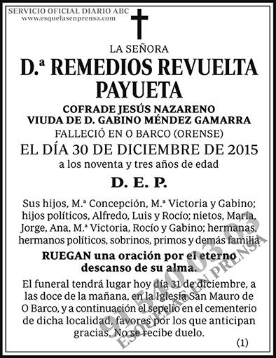 Remedios Revuelta Payueta